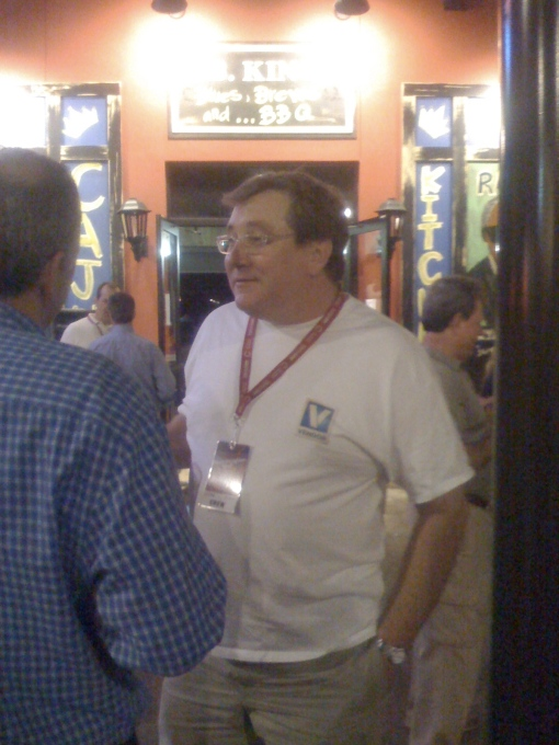 Sam Scott of HAR at party wearing a Vendor Alley T-Shirt!!!