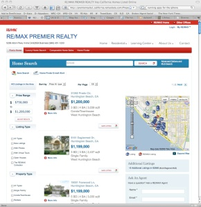 remax.com's search results page